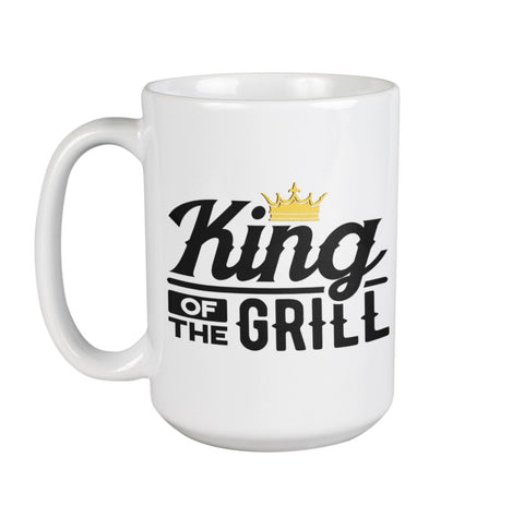 King of the Grill Coffee Mug | Grilling Mug for Dad