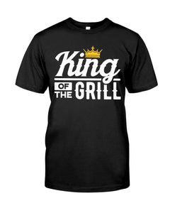 King of the Grill | Grilling T-Shirts for Dad Apparel Fuel Black S