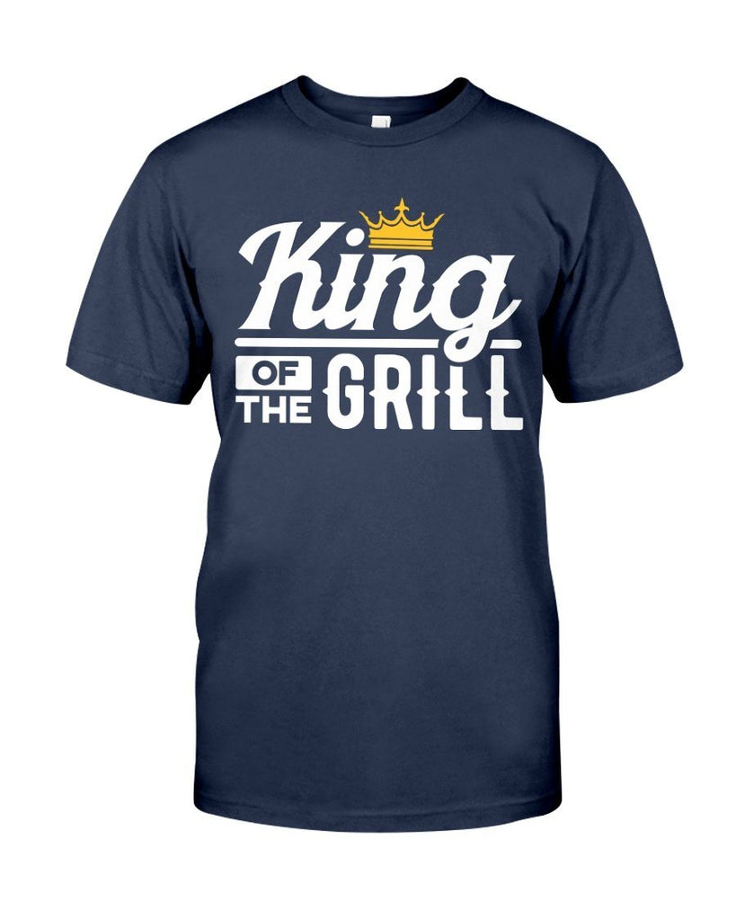 King of the Grill | Grilling T-Shirts for Dad Apparel Fuel Navy S