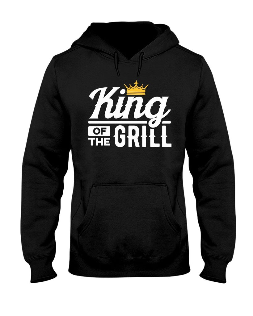 King of the Grill Hoodie | Grilling Hoodies for Dad Apparel Fuel S Black