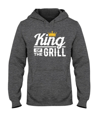 King of the Grill Hoodie | Grilling Hoodies for Dad Apparel Fuel S Charcoal Heather