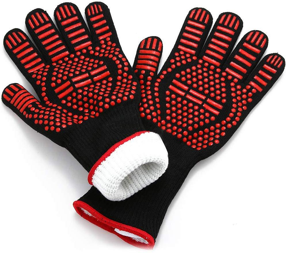 MAX Heat Resistant BBQ Gloves BBQ Grilling & Smoking Accessory I Love Grilling Meat