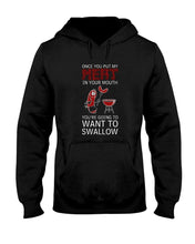 Load image into Gallery viewer, Once You Put My Meat In Your Mouth You're Going To Want To Swallow | Grilling BBQ Hoodie Sweatshirts Fuel Black S