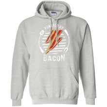 Load image into Gallery viewer, Powered By Bacon (Orange) Hoodie Sweatshirts CustomCat Ash S
