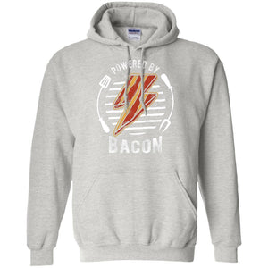 Powered By Bacon (Orange) Hoodie Sweatshirts CustomCat Ash S