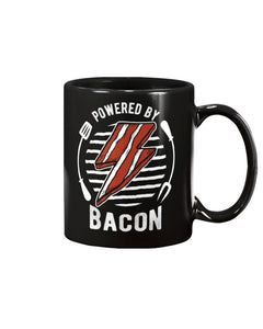 Powered By Bacon (White) | Grilling BBQ Mug Mugs Fuel
