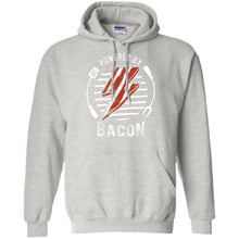 Load image into Gallery viewer, Powered By Bacon (White) Hoodie Sweatshirts CustomCat Ash S