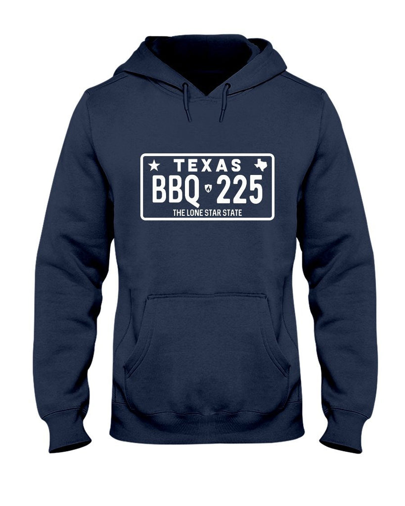 Texas BBQ 225 | Grilling BBQ Hoodie Apparel Fuel Navy S