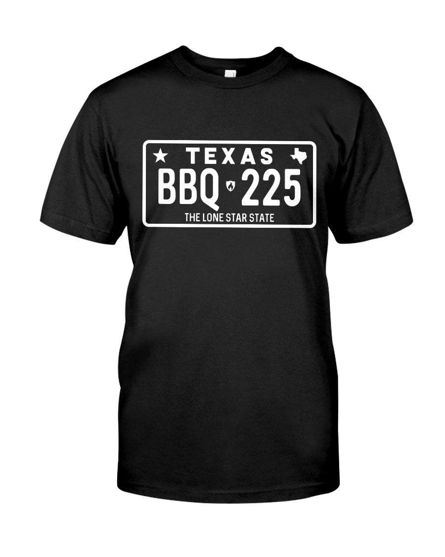 Texas BBQ 225 | Grilling BBQ T-Shirt Apparel Fuel Black S