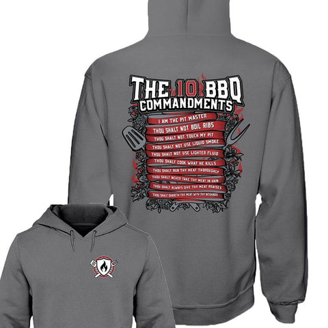 The 10 BBQ Commandments Hoodie (2 sided print)