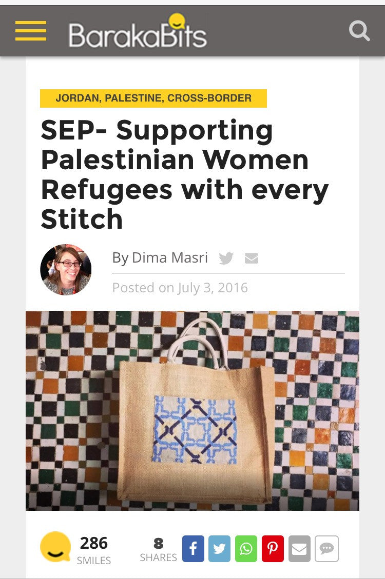 Barakabits: SEP- Supporting Palestinian Women Refugees with every Stitch