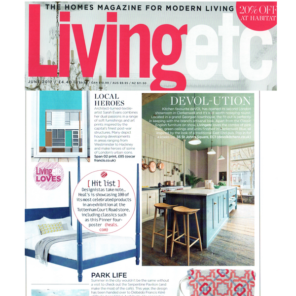 SEP featured in LivingEtc Magazine