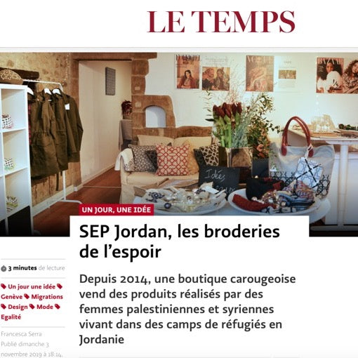 SEP featured in Le Temps