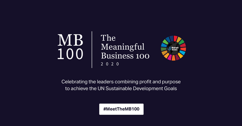 The Meaningful Business 100 for 2020 have been announced:
