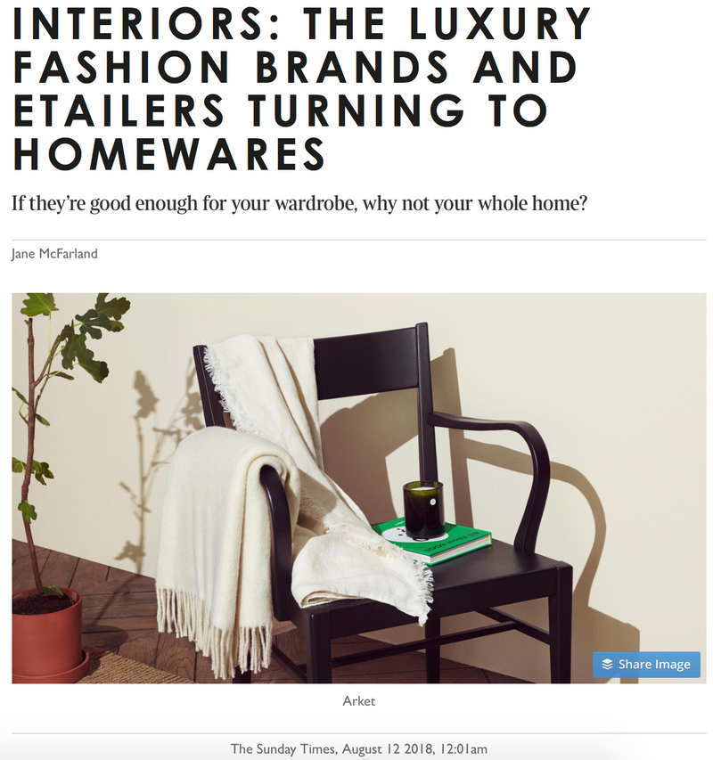 INTERIORS: THE LUXURY FASHION BRANDS AND ETAILERS TURNING TO HOMEWARES
