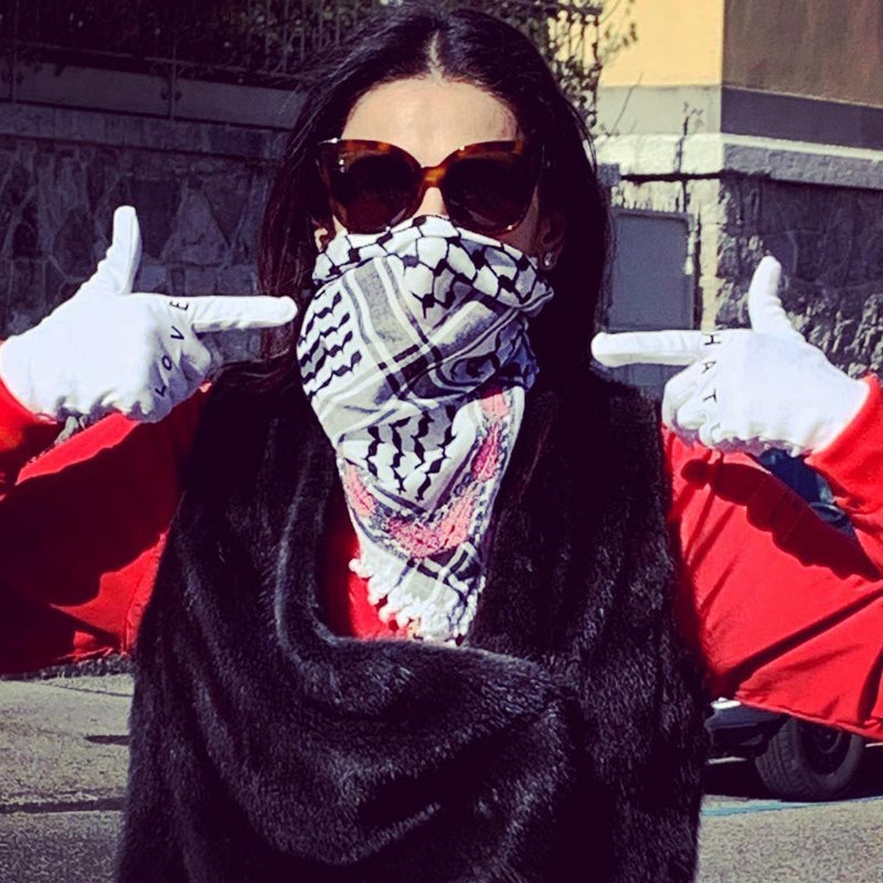 Keffiyeh being worn as face masks: is it safe?