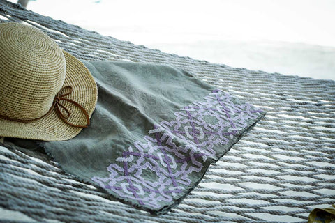 A beach towel to relax on the beach
