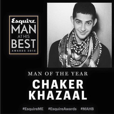 Chaker Khazaal Equire Man of the Year, wearing his SEP scarf