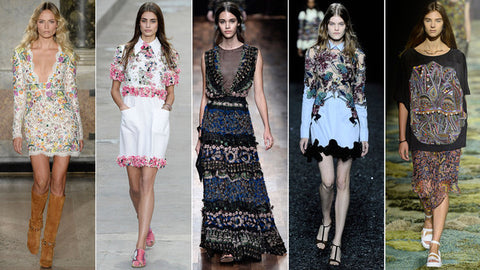 From left: Pucci; Chanel; Valentino; Mary Katrantzou; Dries Van Noten - FT