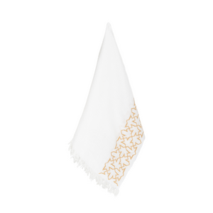 WHITE LINEN SHAWL GOLD SULTAN HAN®