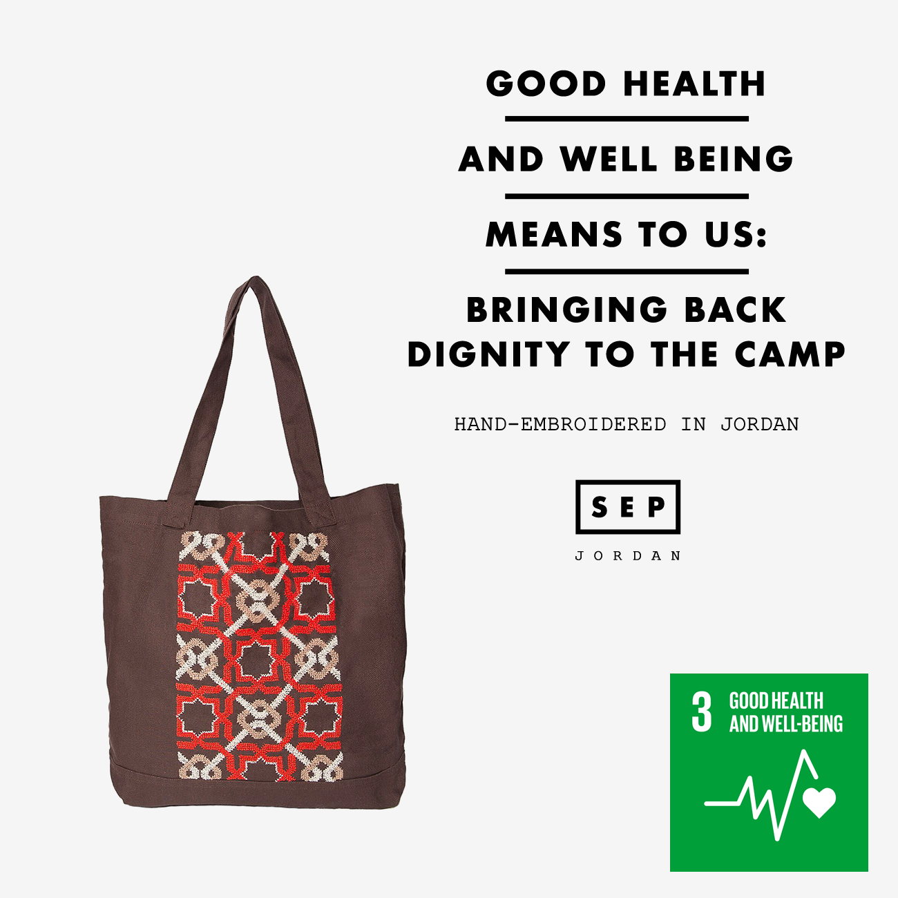 Brown Canvas Bag SDG#3