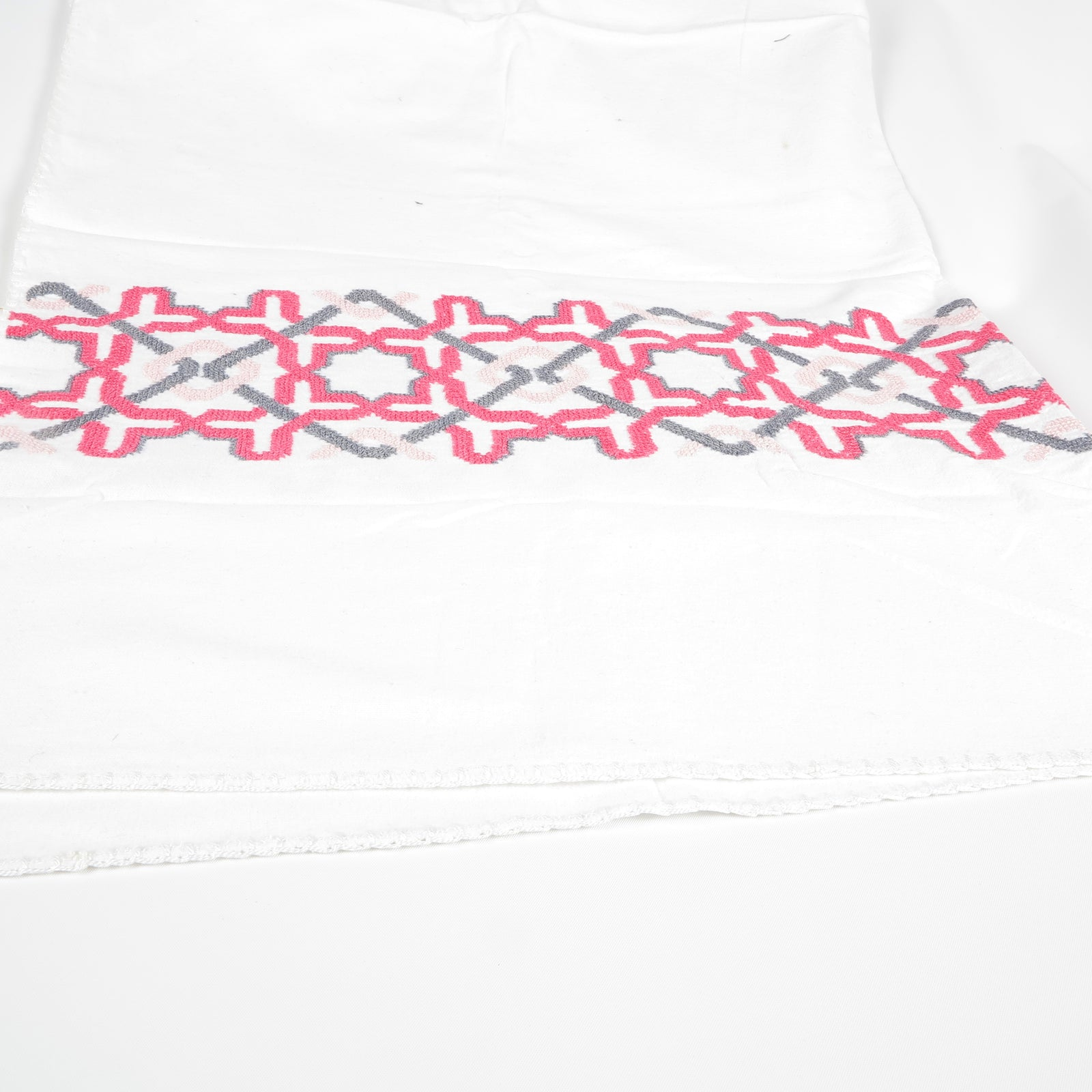 WHITE COTTON BABY BLANKET ALHAMBRA®