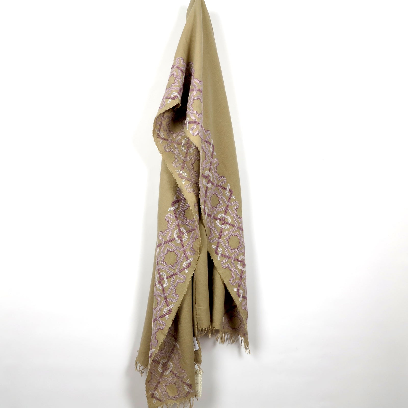 Taupe Linen Shawl, Alhambra®, Lavender
