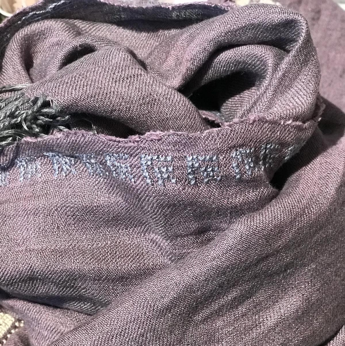 Mauve Linen Shawl, The Rose Grey