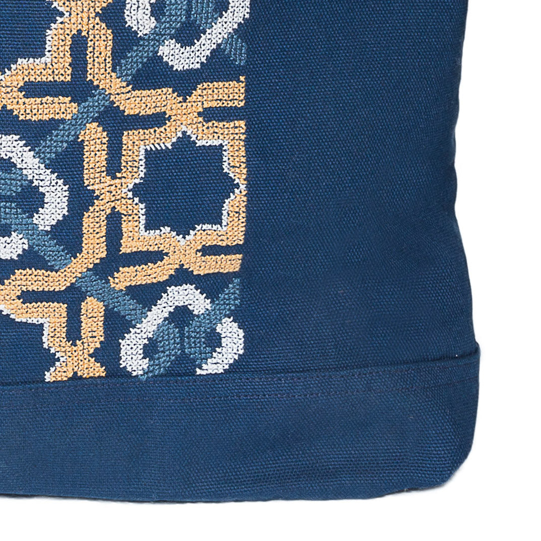 NAVY CANVAS BAG SDG#17
