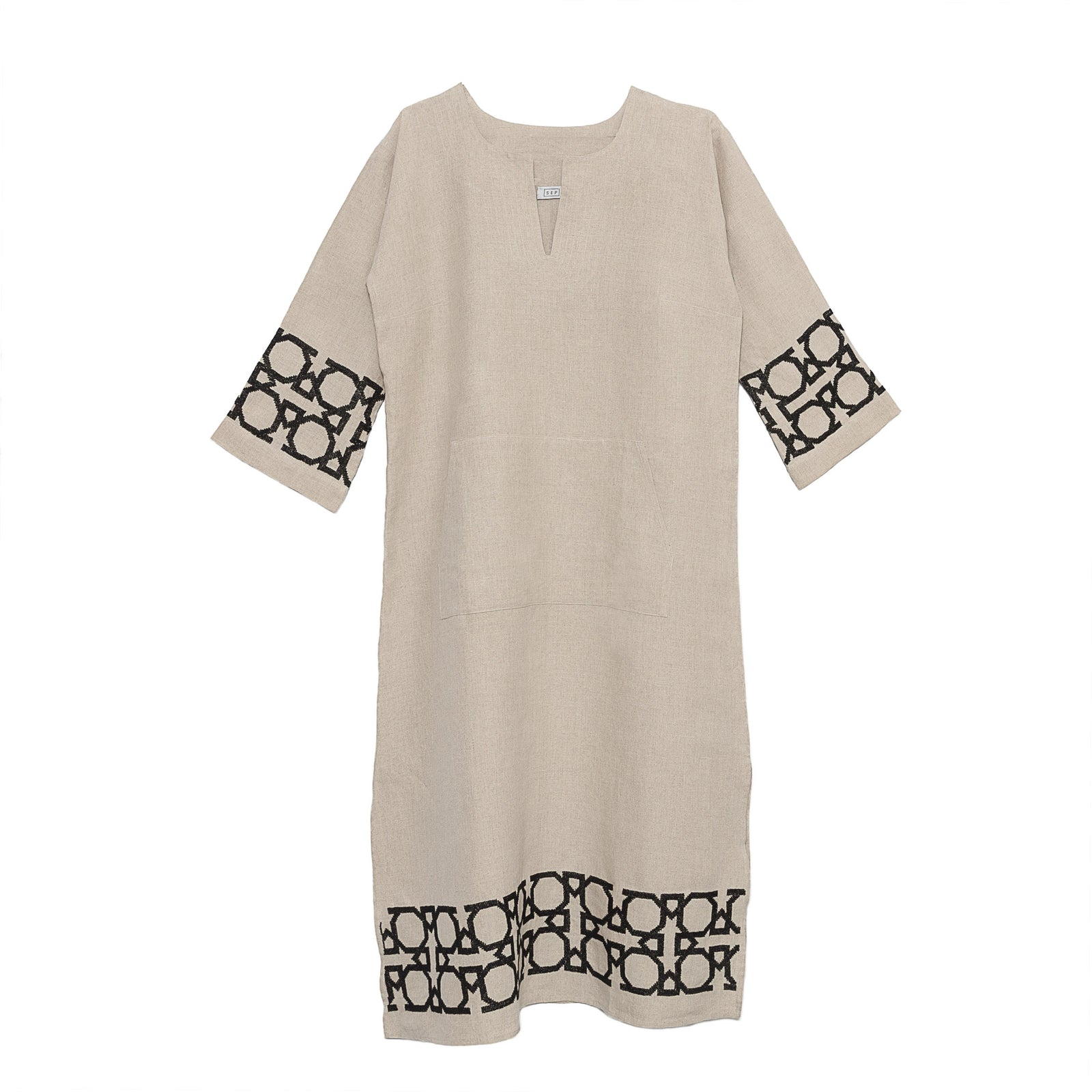 Long Linen Tunic Dress Al Quds