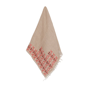 BEIGE LINEN SHAWL - MADE51 X UNHCR Limited Edition