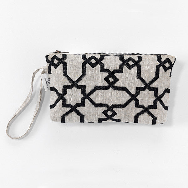 heritage geometry pattern hand-embroidered