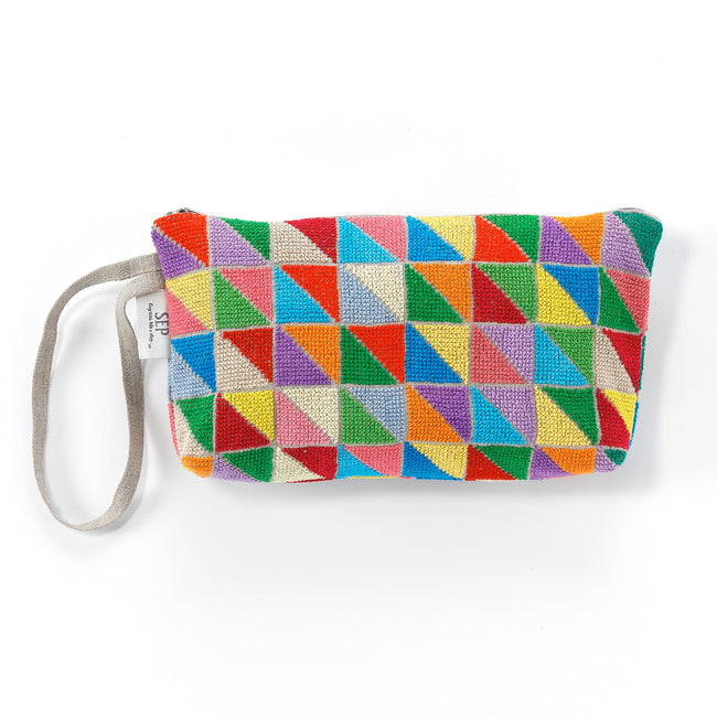 Triangles Zipper Pouch