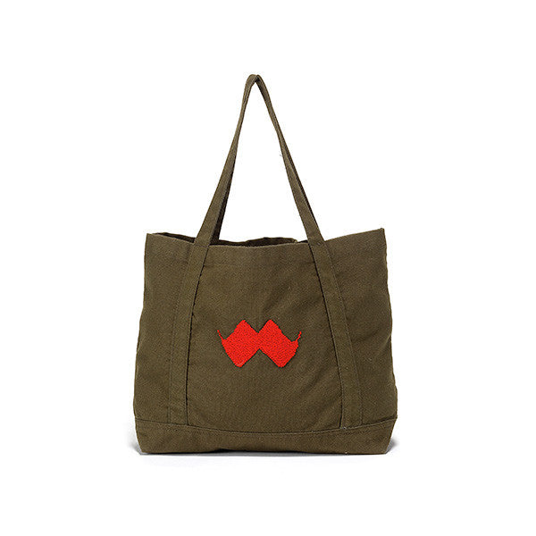 canvas tote embroidered in jordan by refugees