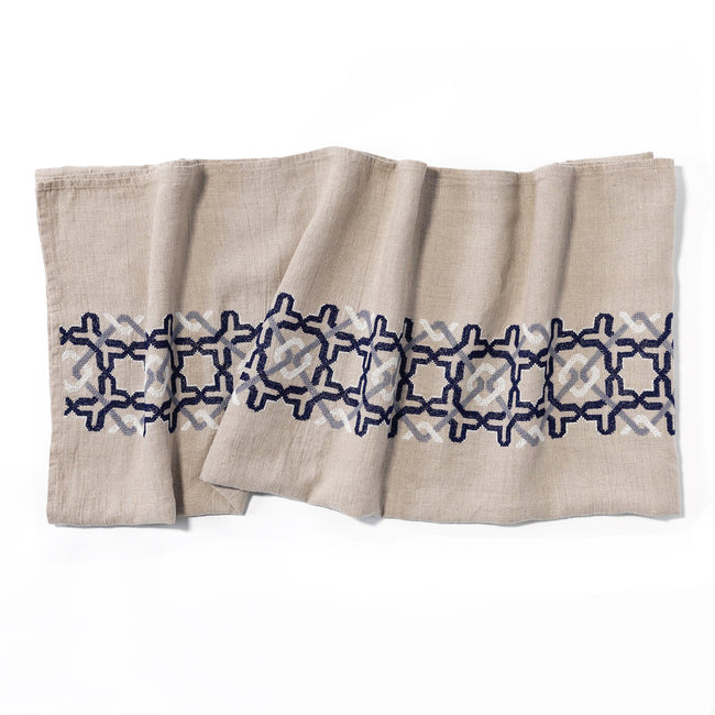 Softened Linen Towel Navy Alhambra®