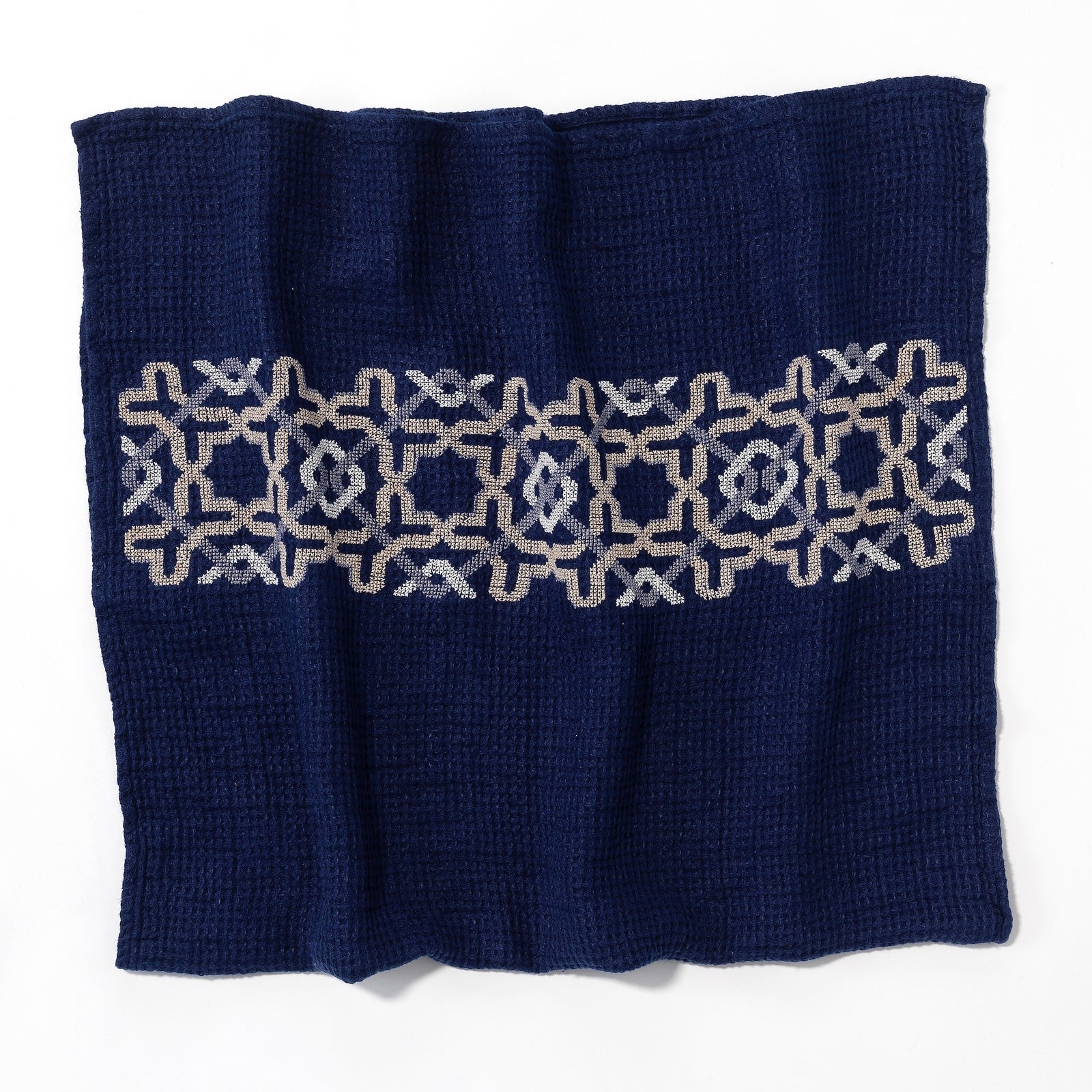 NAVY WAFFLE LINEN TOWEL ALHAMBRA®