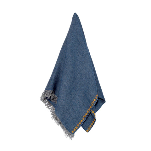 Blue Linen Shawl, Sultan Han Pattern