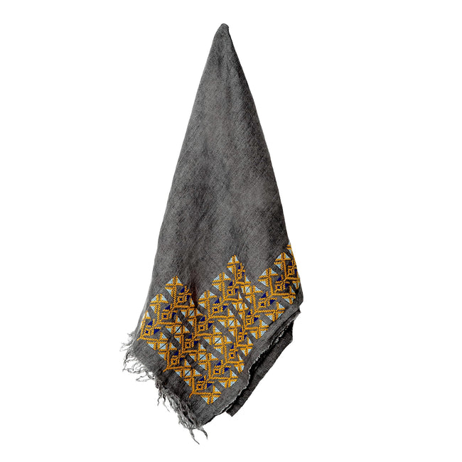Grey Linen Shawl - MADE51 X UNHCR Limited Edition