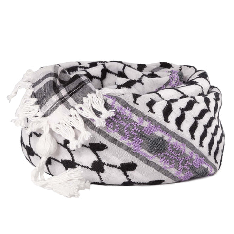6 Shades on Gray Keffiyeh