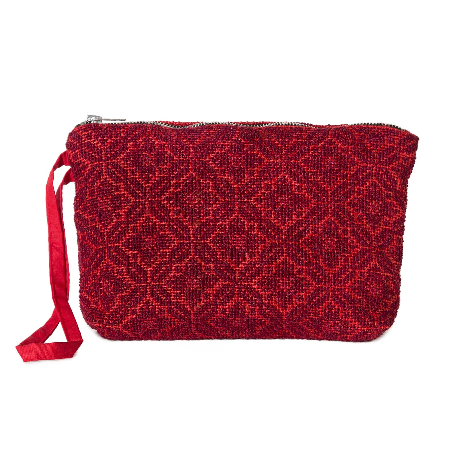 JUTE ZIPPER POUCH POPPY
