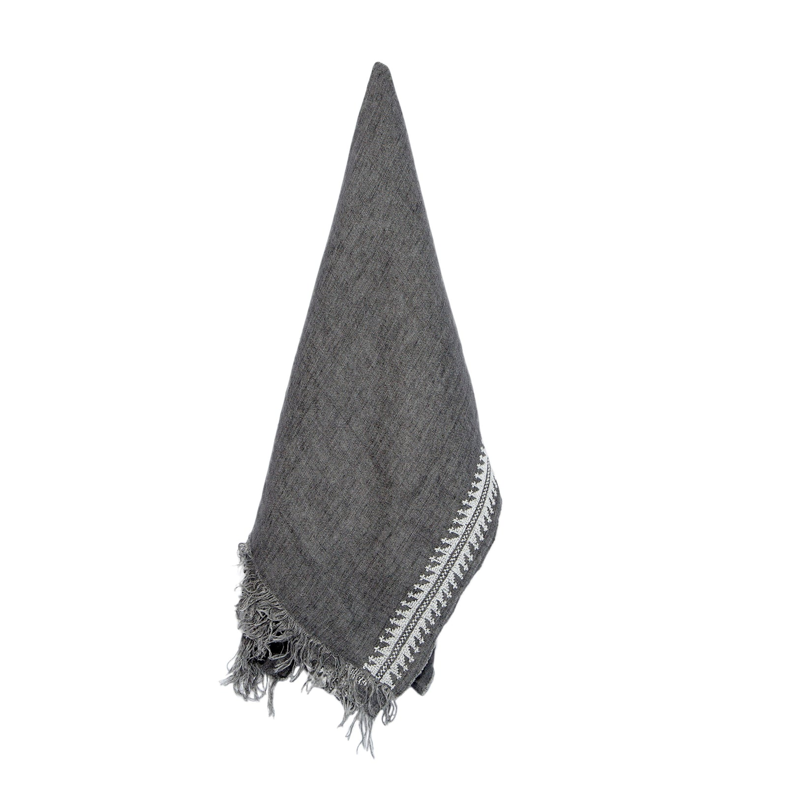 Gray Linen Shawl, Mary Magdalene Pattern