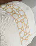Cream Linen&Cotton - Golden Embroidery