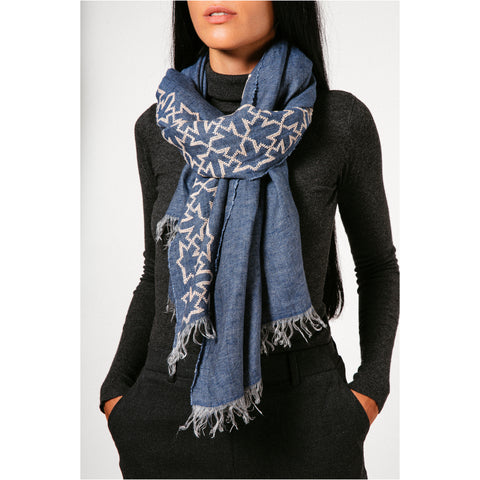 Gray Linen Shawl Mary Magdalene
