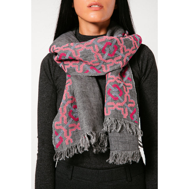 Grey Linen Shawl, Alhambra®, Sunset