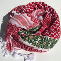 Red & White with Cross pattern: green or brown or burgundy