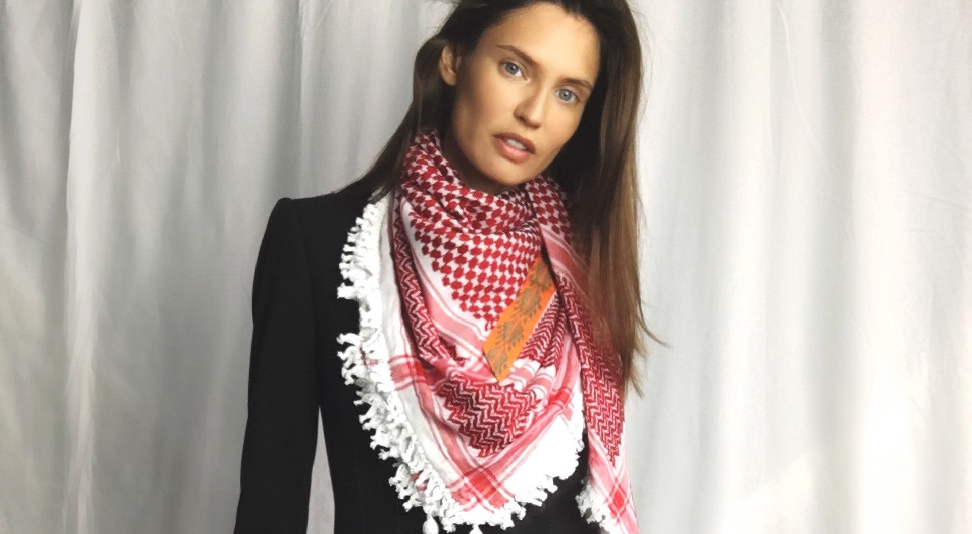Bianca Balti with her SEP scarf