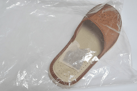 Summer house slippers - Reindeer Leather