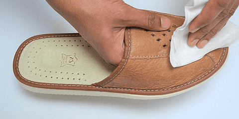 Leather bedroom slippers - Reindeer Leather