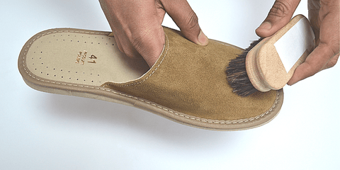 How to Clean leather bedroom slippers for Men and Women - Reindeer leather