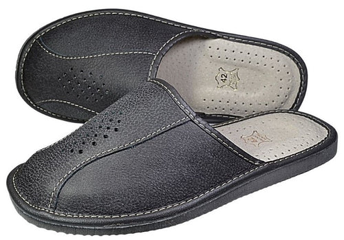 Mens Leather House Slippers - Reindeer Leather2